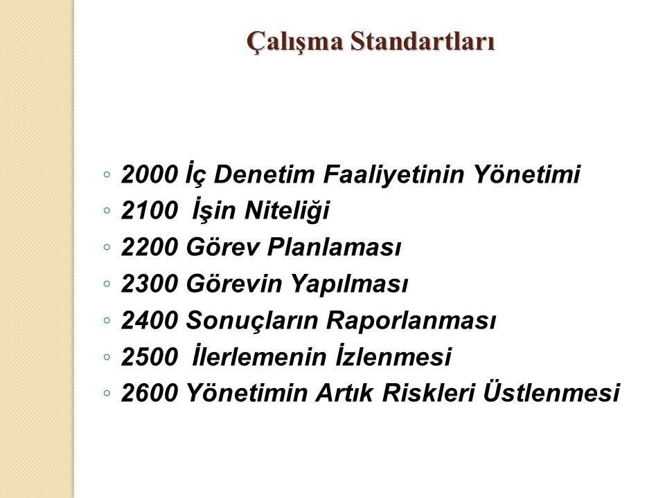 Çalışma Standartları 2000 İç Denetim Faaliyetinin Yönetimi