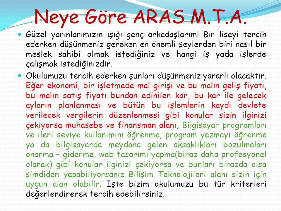 Neye Göre ARAS M.T.A.