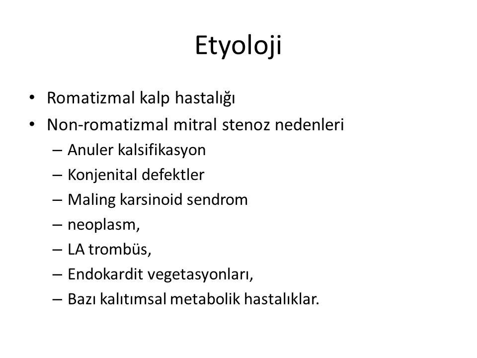 Etyoloji Romatizmal kalp hastalığı