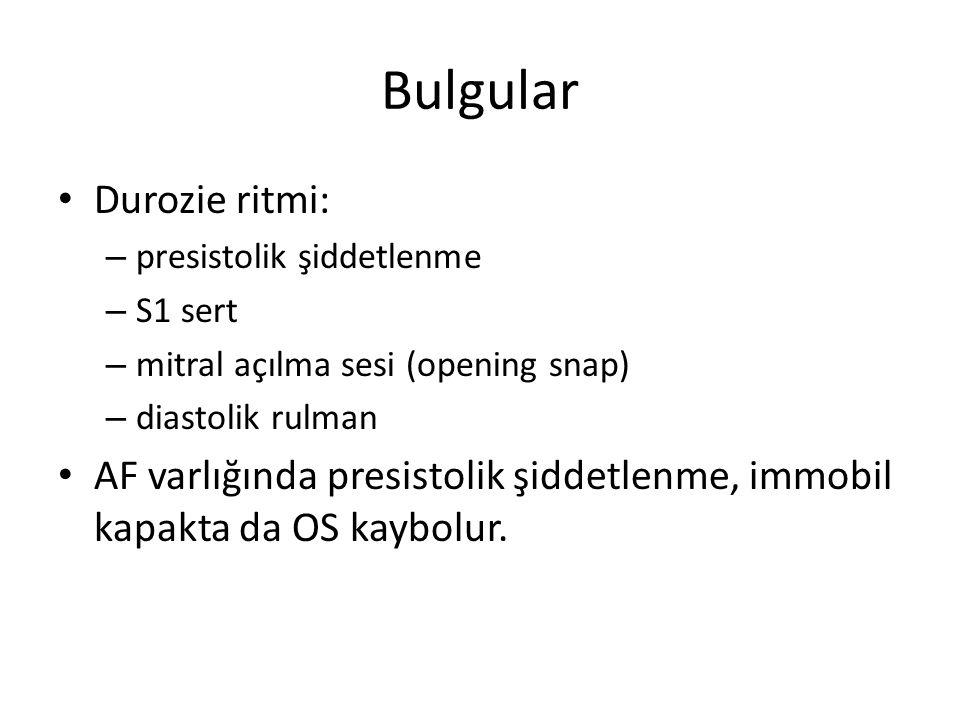 Bulgular Durozie ritmi: