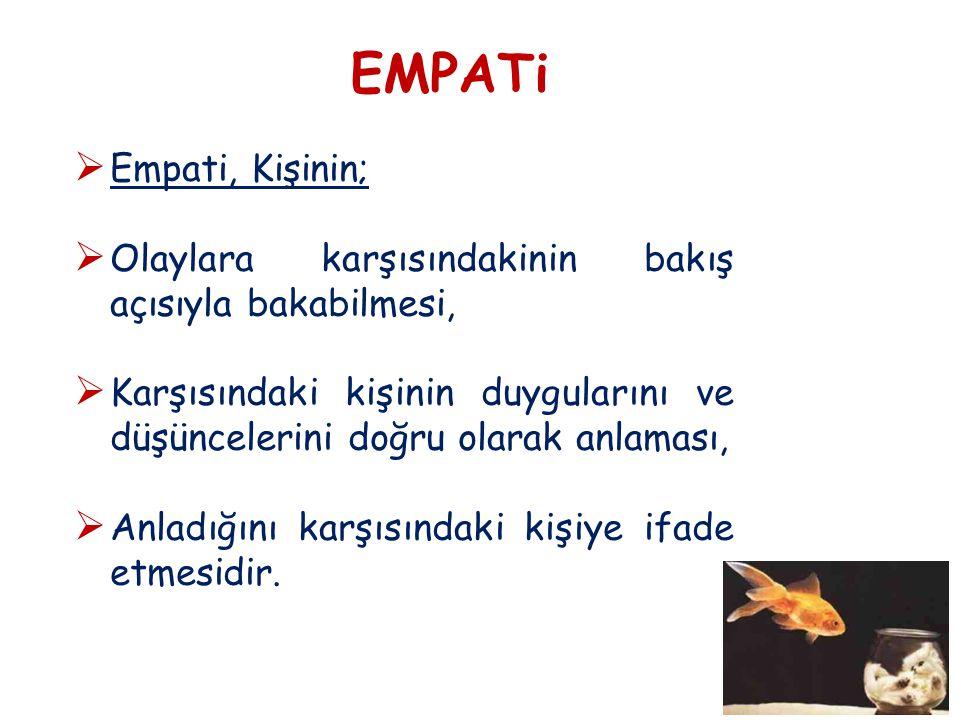 EMPATi Empati, Kişinin;