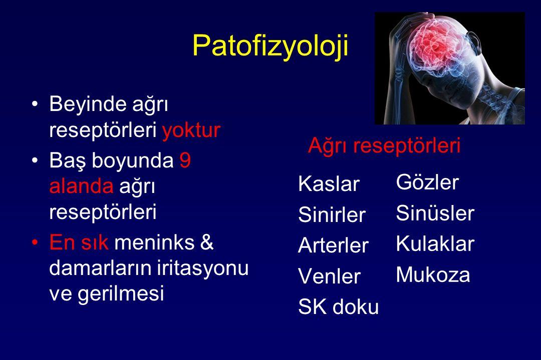 Patofizyoloji Beyinde ağrı reseptörleri yoktur