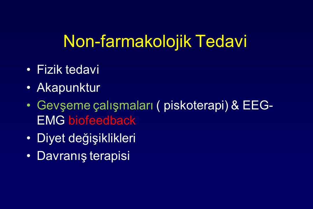 Non-farmakolojik Tedavi