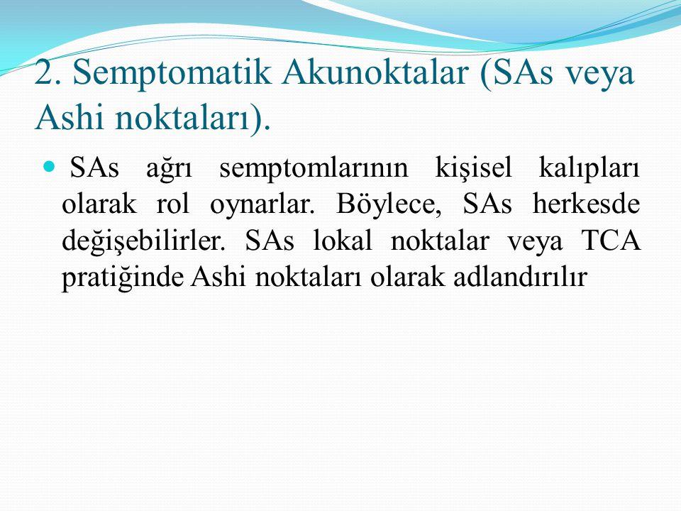 2. Semptomatik Akunoktalar (SAs veya Ashi noktaları).