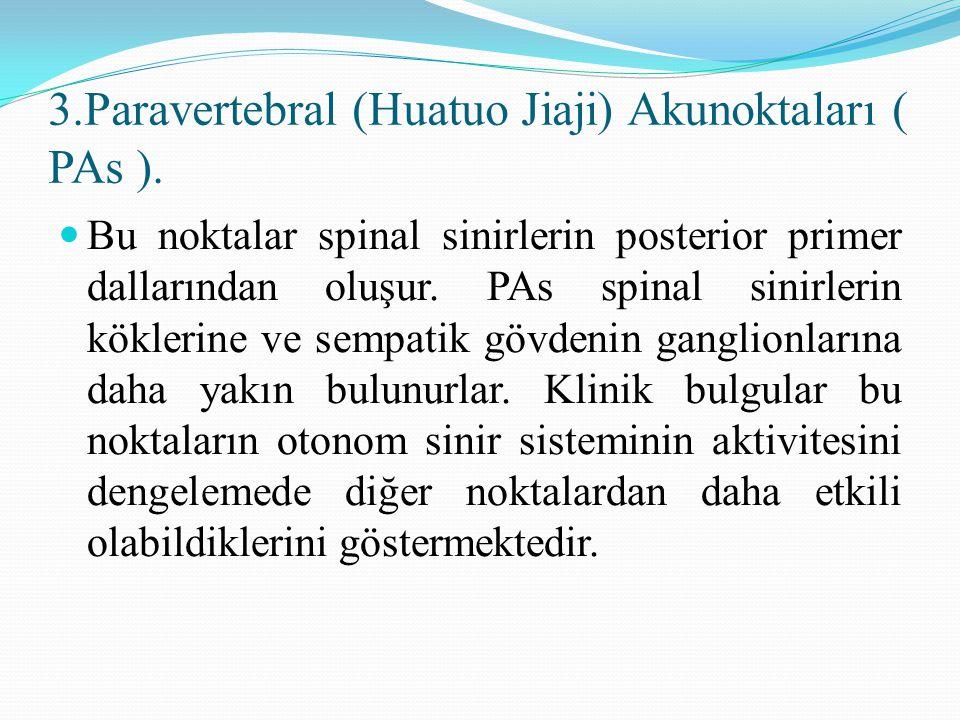 3.Paravertebral (Huatuo Jiaji) Akunoktaları ( PAs ).