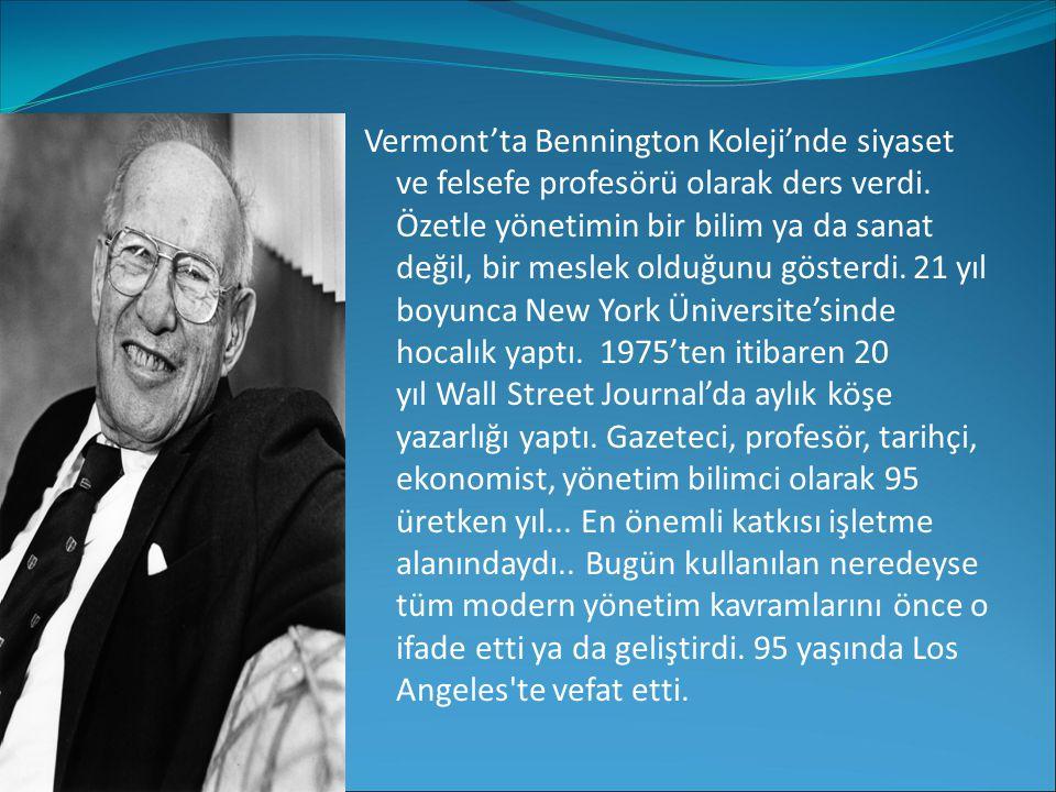 Vermont'ta Bennington Koleji'nde siyaset ve felsefe profesörü olarak ders verdi.