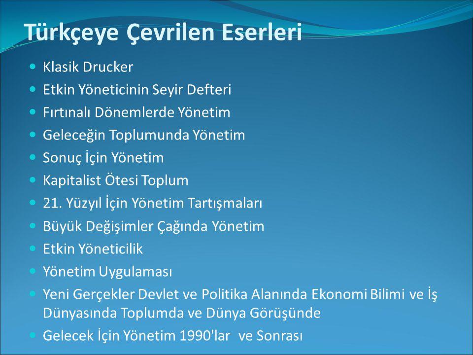 Türkçeye Çevrilen Eserleri