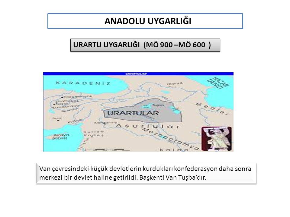 ANADOLU UYGARLIĞI URARTU UYGARLIĞI (MÖ 900 –MÖ 600 )