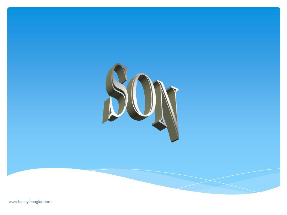 SON www.huseyincaglar.com