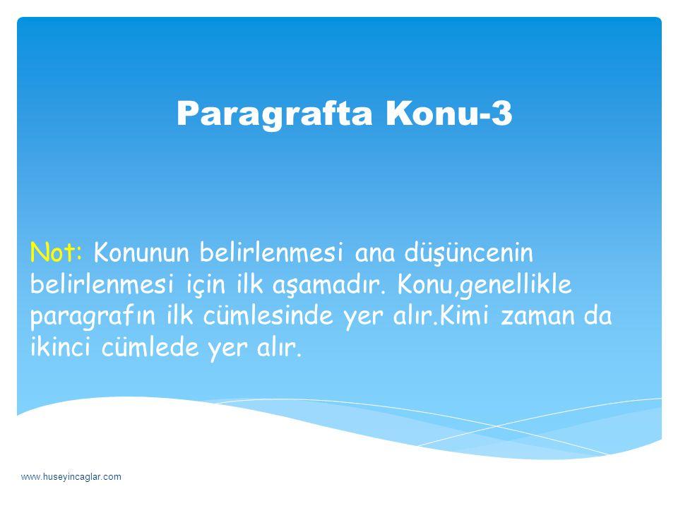 Paragrafta Konu-3