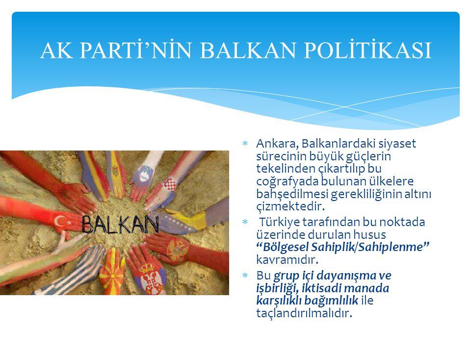 AK PARTİ'NİN BALKAN POLİTİKASI
