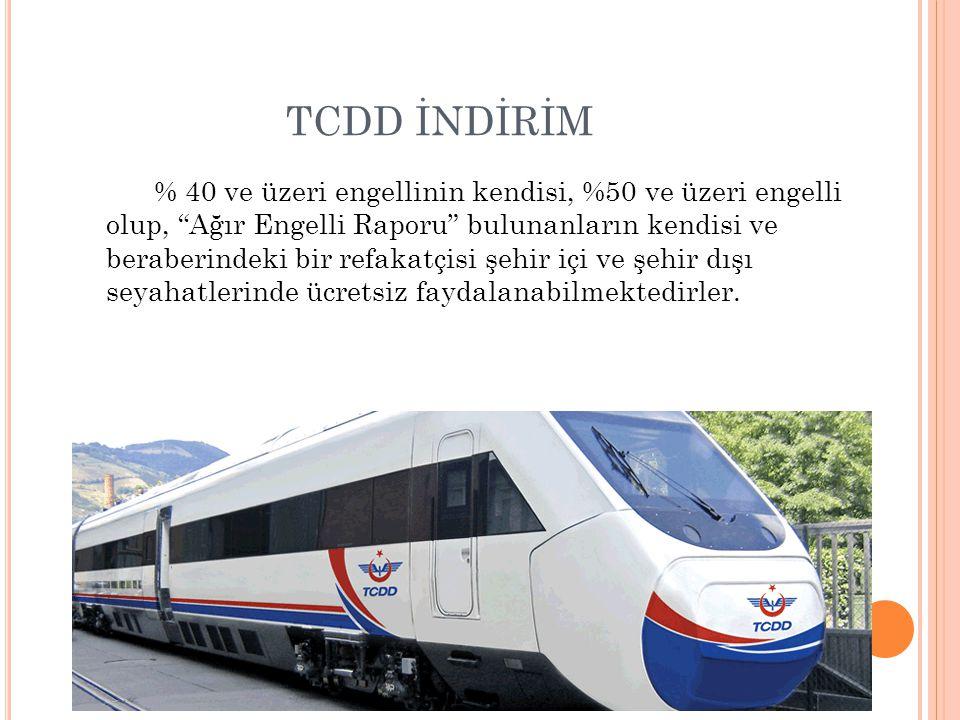 TCDD İNDİRİM