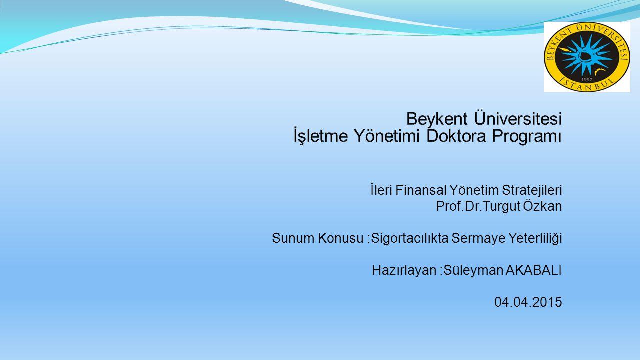 Beykent Üniversitesi İşletme Yönetimi Doktora Programı