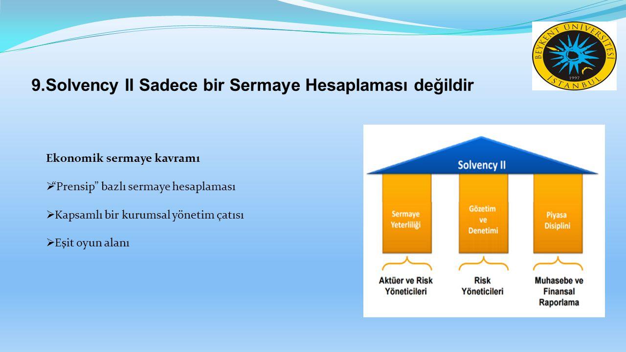 9.Solvency II Sadece bir Sermaye Hesaplaması değildir