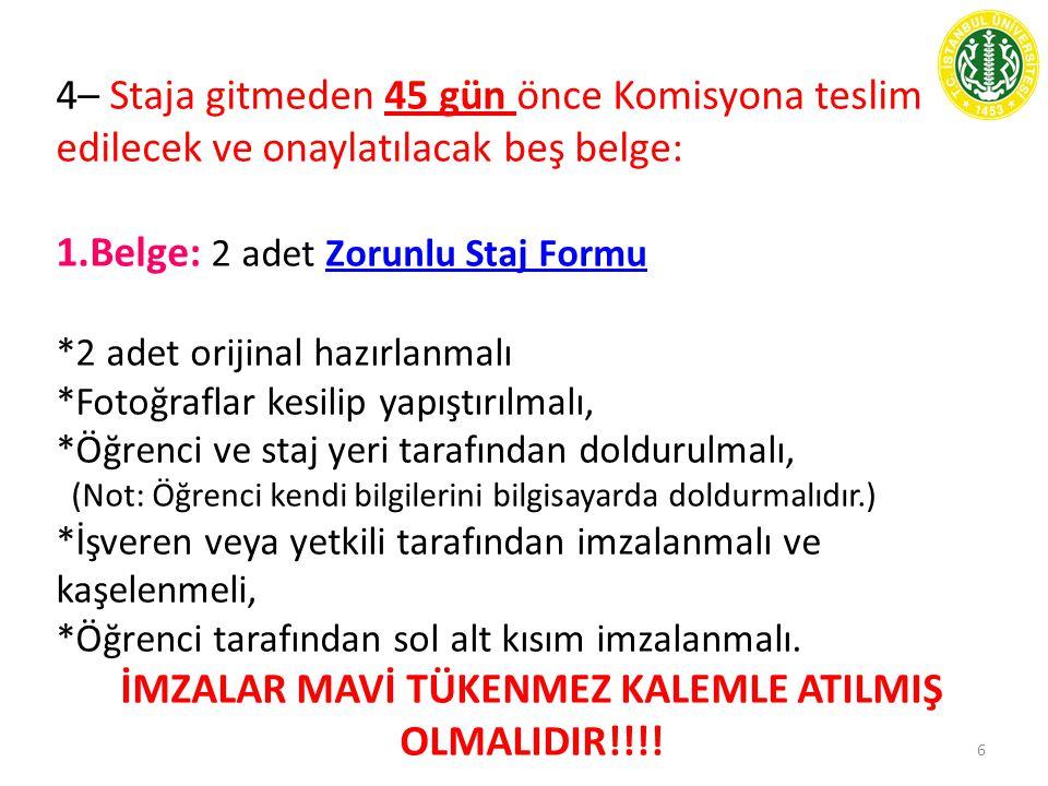 İMZALAR MAVİ TÜKENMEZ KALEMLE ATILMIŞ OLMALIDIR!!!!