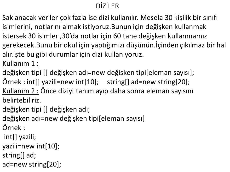 DİZİLER