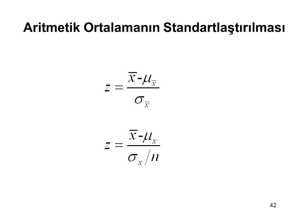 Aritmetik Ortalamanın Standartlaştırılması
