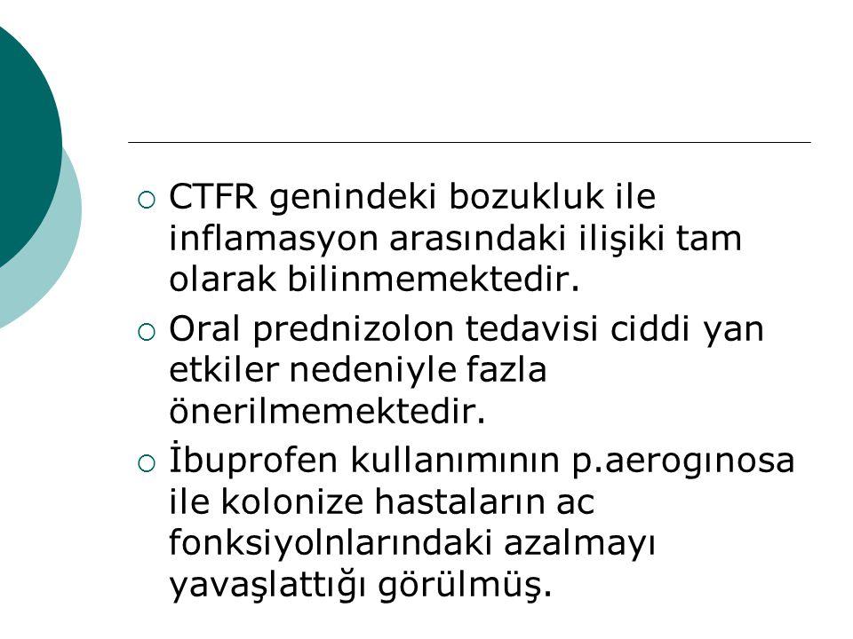 CTFR genindeki bozukluk ile inflamasyon arasındaki ilişiki tam olarak bilinmemektedir.