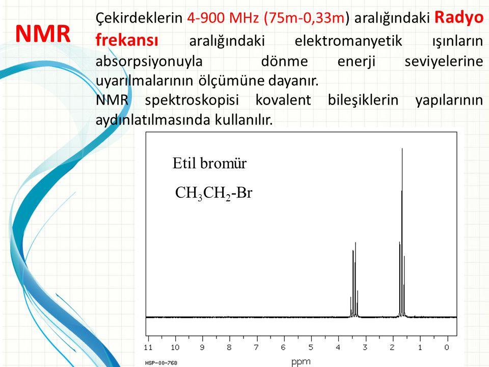 Çekirdeklerin 4-900 MHz (75m-0,33m) aralığındaki Radyo frekansı aralığındaki elektromanyetik ışınların absorpsiyonuyla dönme enerji seviyelerine uyarılmalarının ölçümüne dayanır.