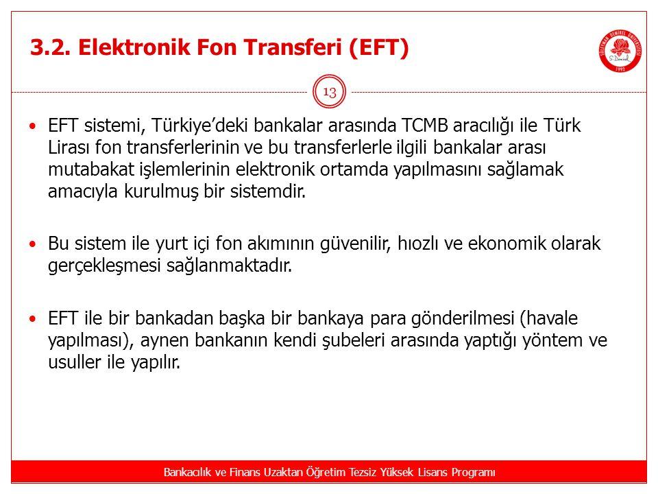 3.2. Elektronik Fon Transferi (EFT)