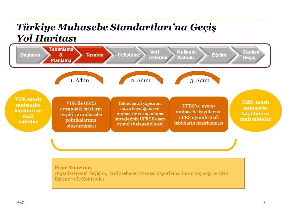 Türkiye Muhasebe Standartları'na Geçiş Yol Haritası