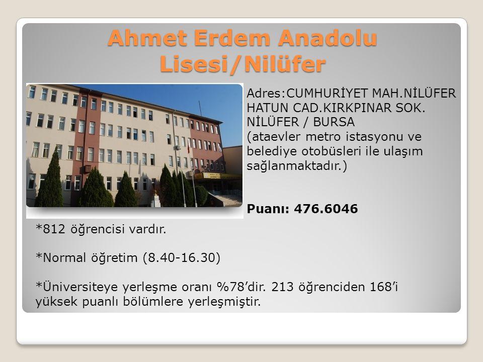 Ahmet Erdem Anadolu Lisesi/Nilüfer