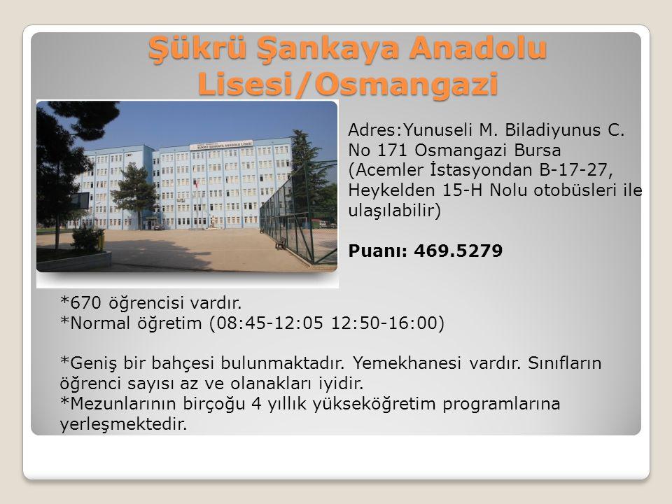 Şükrü Şankaya Anadolu Lisesi/Osmangazi