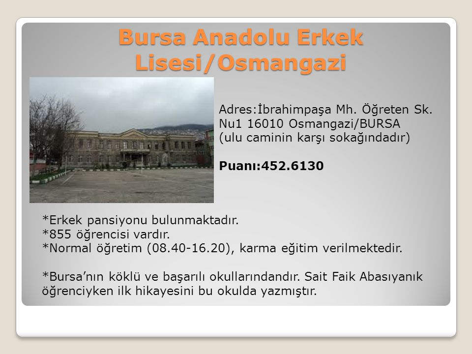 Bursa Anadolu Erkek Lisesi/Osmangazi