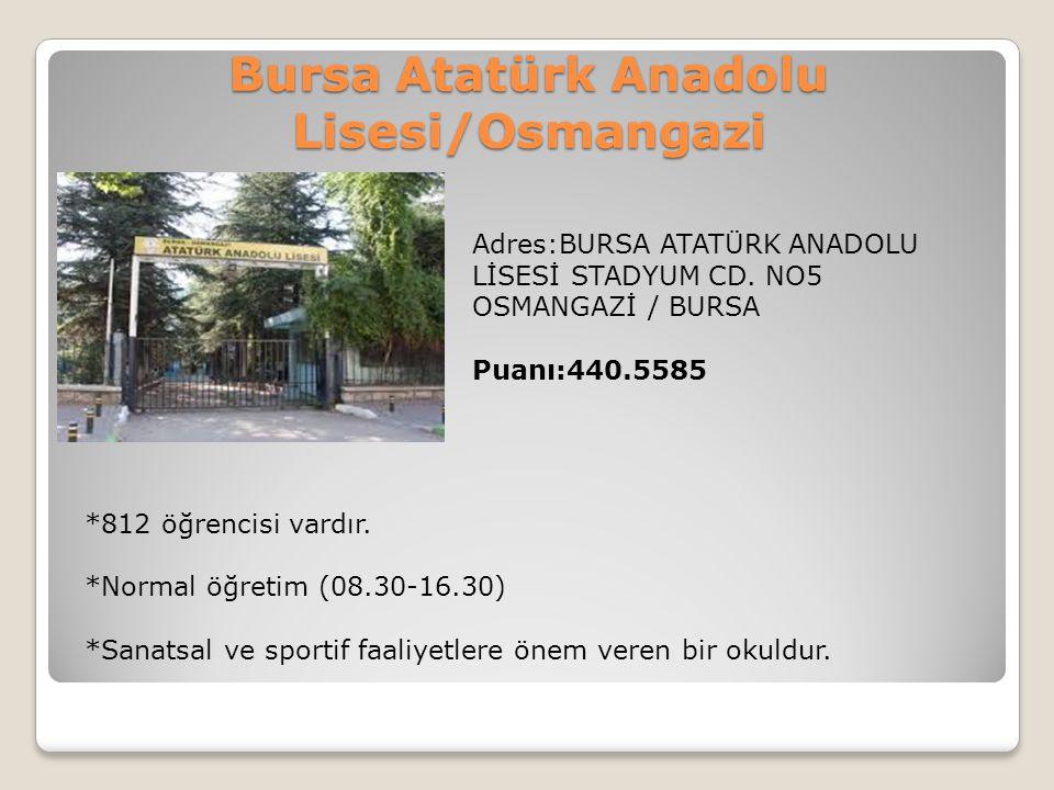 Bursa Atatürk Anadolu Lisesi/Osmangazi