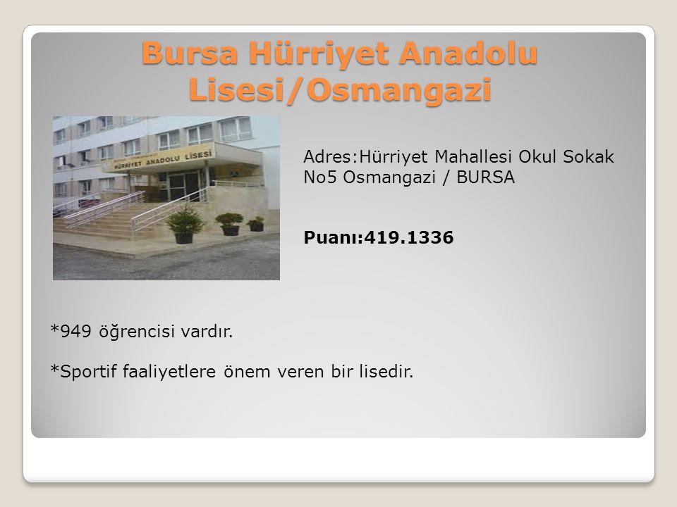 Bursa Hürriyet Anadolu Lisesi/Osmangazi