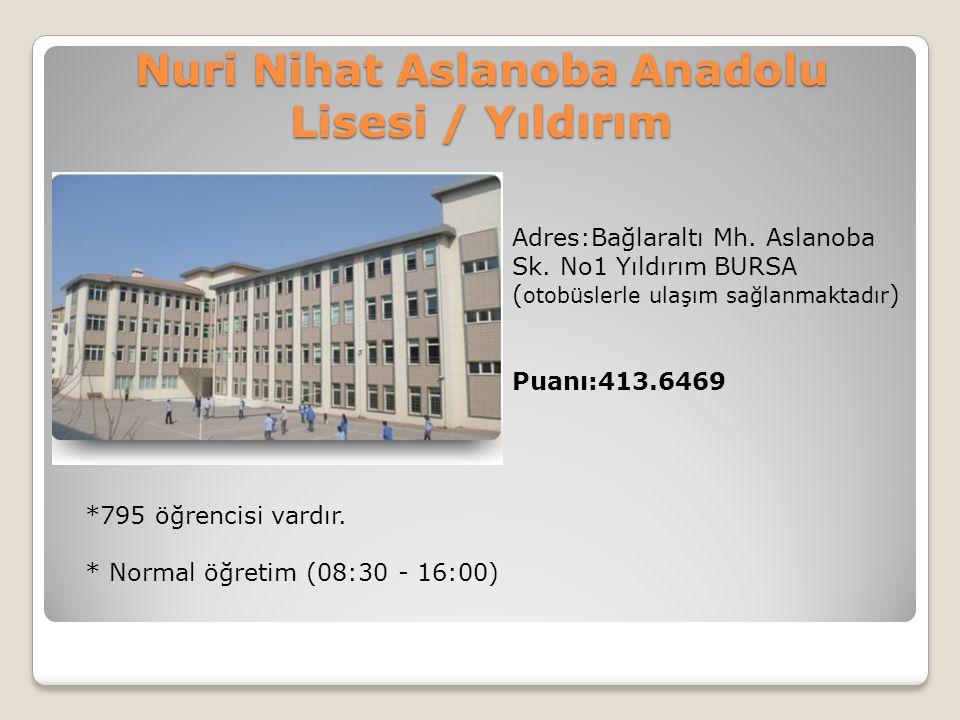 Nuri Nihat Aslanoba Anadolu Lisesi / Yıldırım