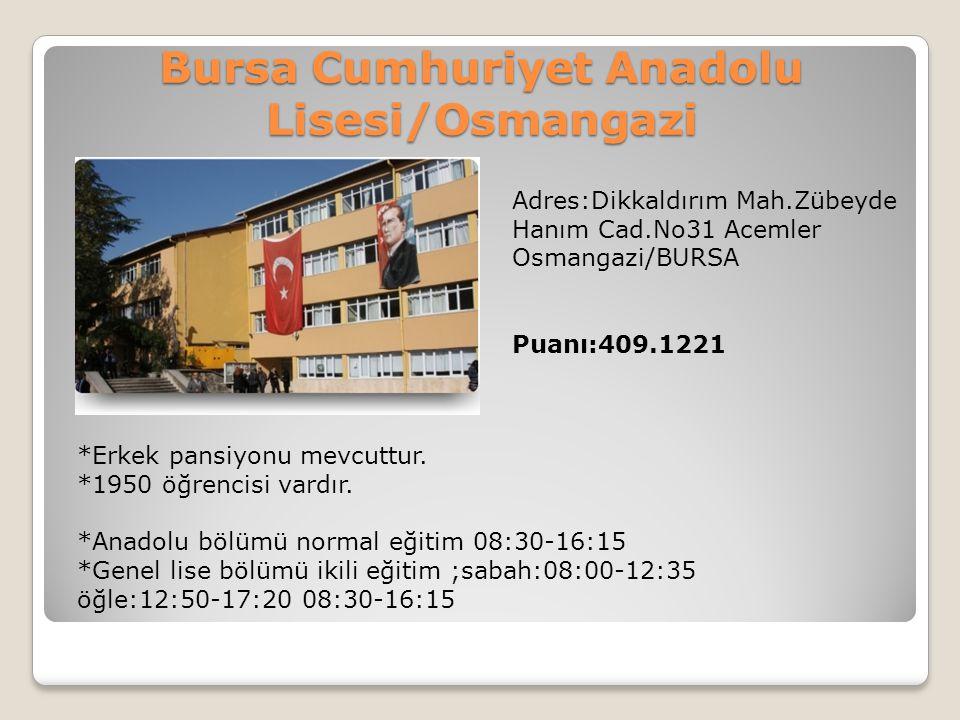 Bursa Cumhuriyet Anadolu Lisesi/Osmangazi