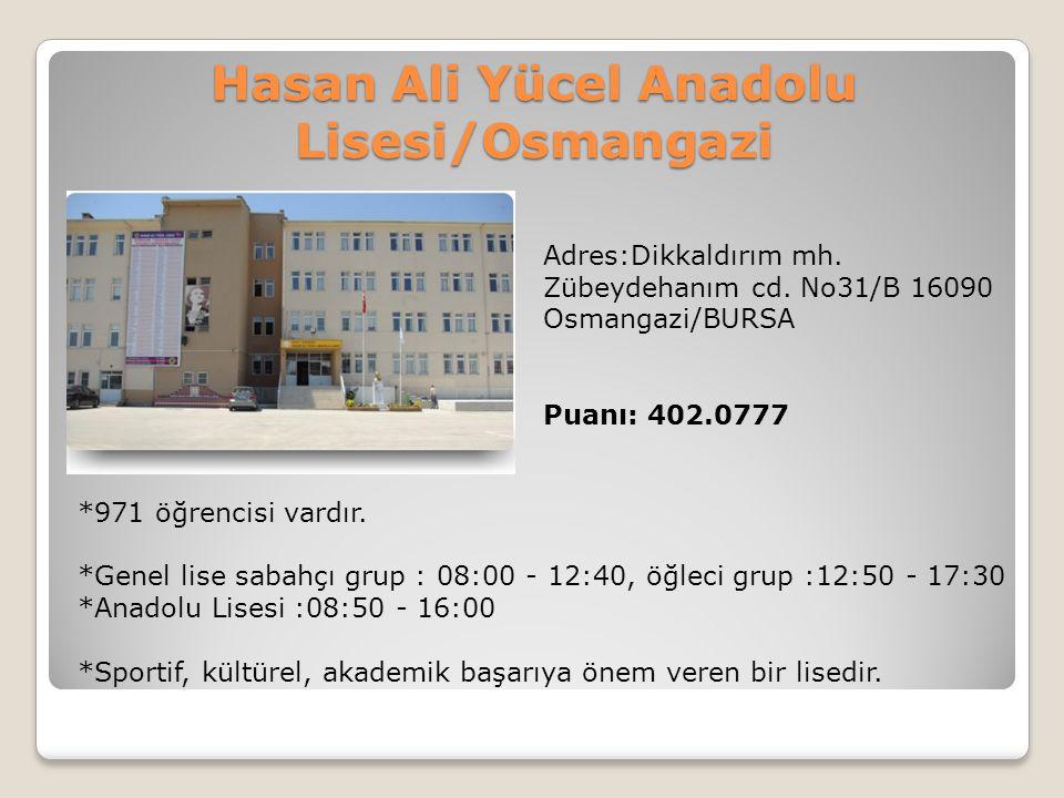 Hasan Ali Yücel Anadolu Lisesi/Osmangazi