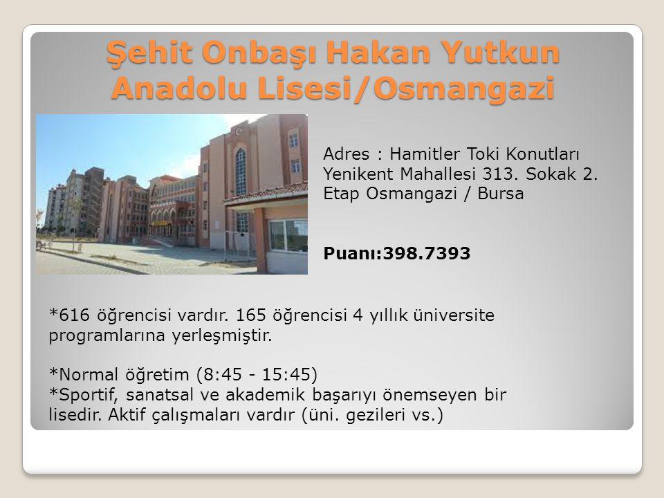 Şehit Onbaşı Hakan Yutkun Anadolu Lisesi/Osmangazi