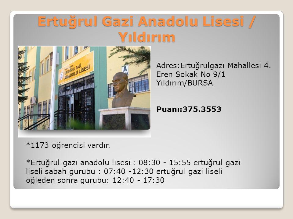 Ertuğrul Gazi Anadolu Lisesi / Yıldırım