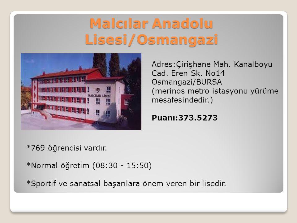 Malcılar Anadolu Lisesi/Osmangazi