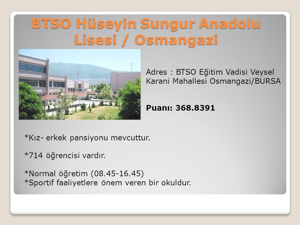 BTSO Hüseyin Sungur Anadolu Lisesi / Osmangazi