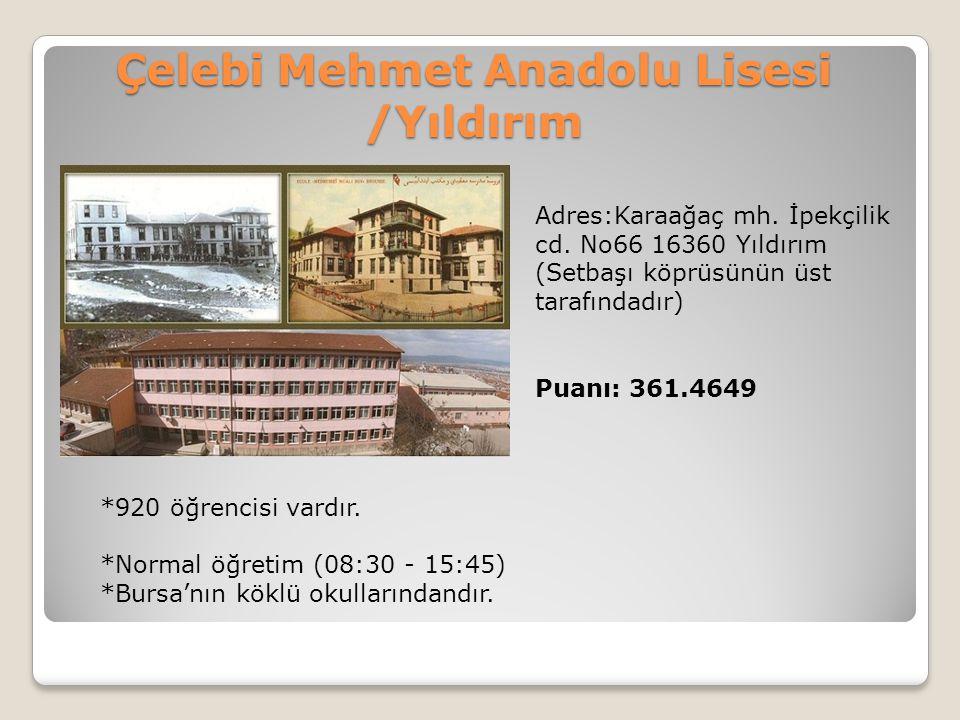 Çelebi Mehmet Anadolu Lisesi /Yıldırım