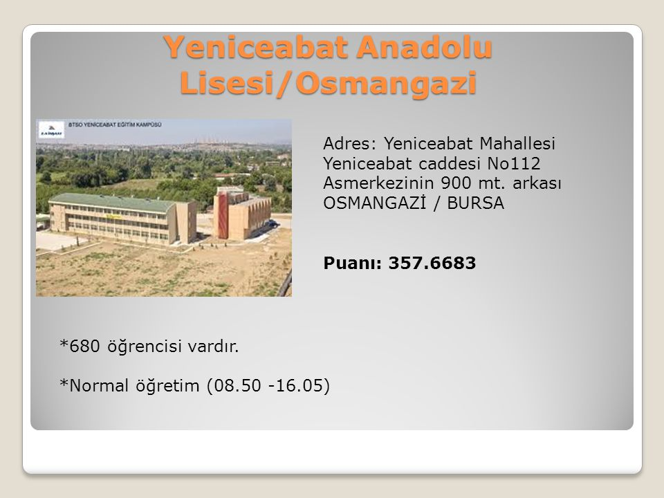 Yeniceabat Anadolu Lisesi/Osmangazi