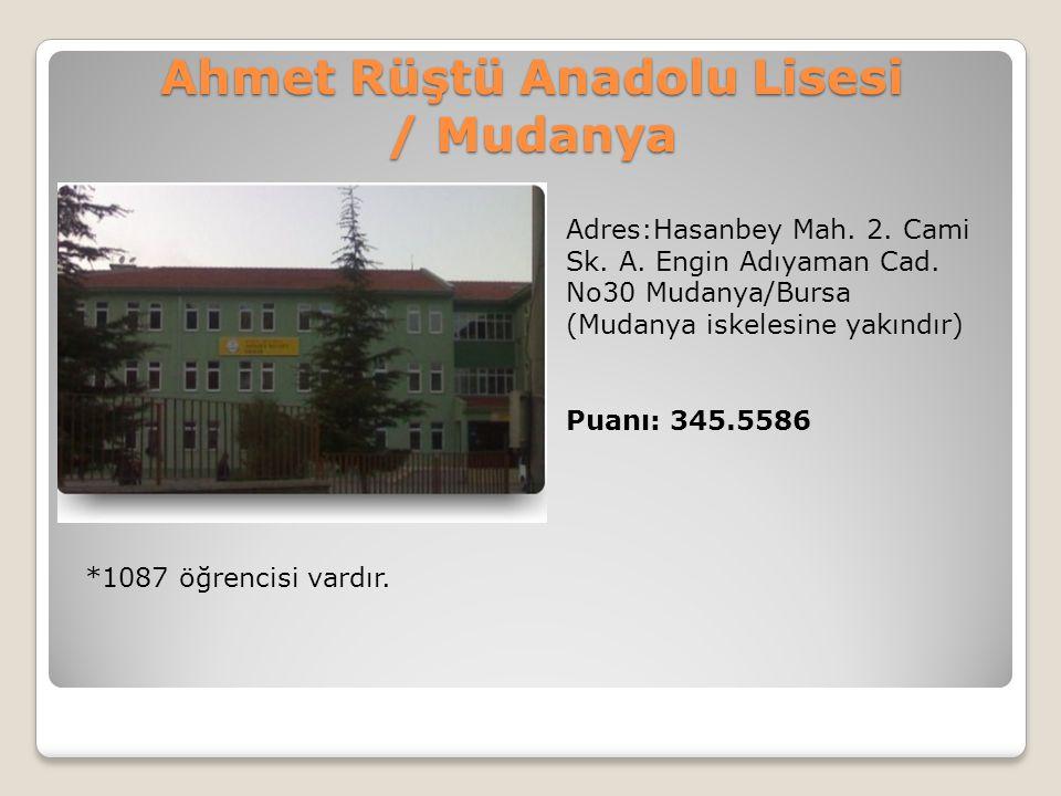 Ahmet Rüştü Anadolu Lisesi / Mudanya