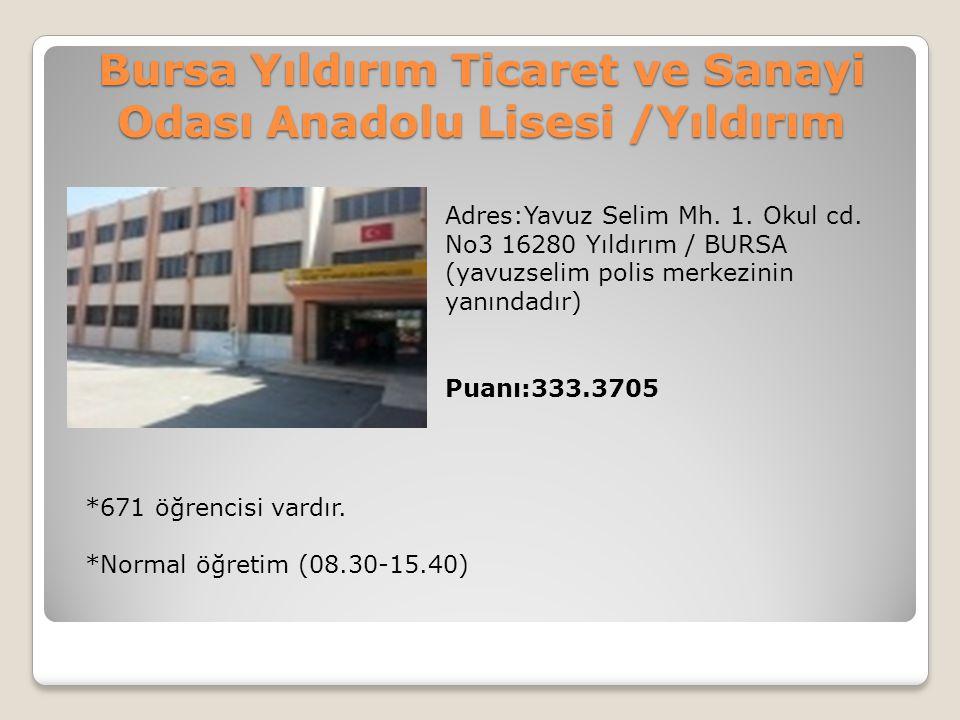 Bursa Yıldırım Ticaret ve Sanayi Odası Anadolu Lisesi /Yıldırım