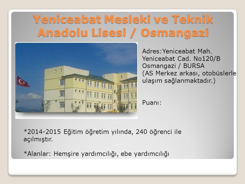 Yeniceabat Mesleki ve Teknik Anadolu Lisesi / Osmangazi