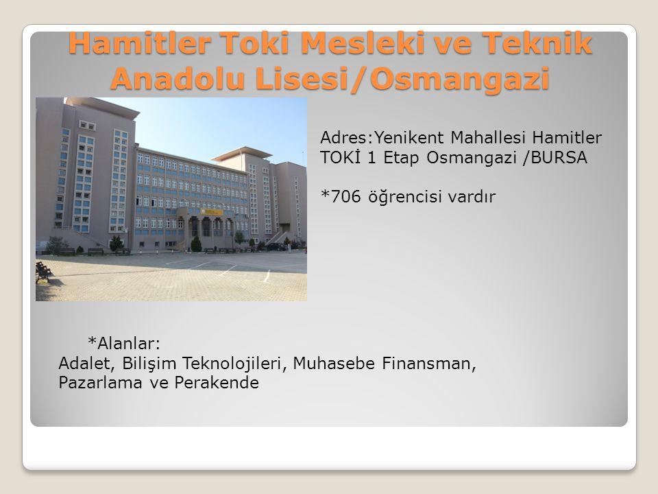 Hamitler Toki Mesleki ve Teknik Anadolu Lisesi/Osmangazi