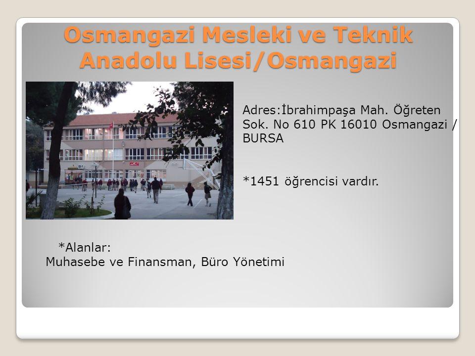 Osmangazi Mesleki ve Teknik Anadolu Lisesi/Osmangazi