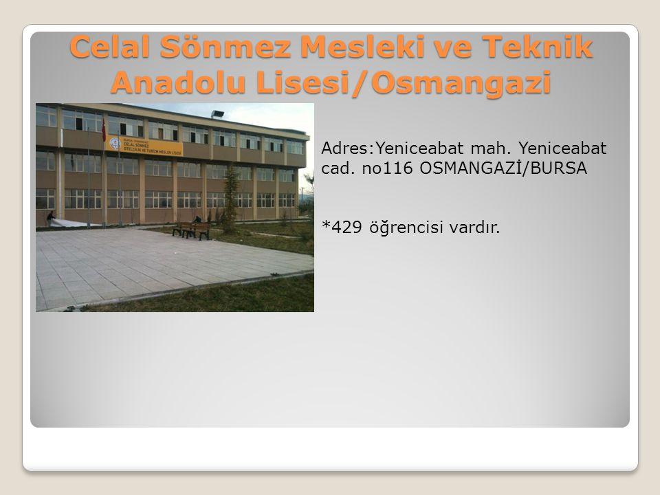 Celal Sönmez Mesleki ve Teknik Anadolu Lisesi/Osmangazi