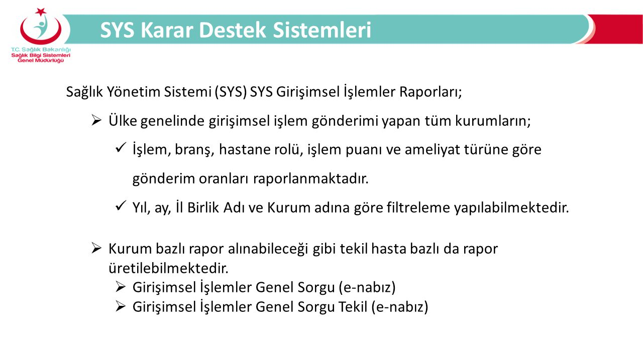 SYS Karar Destek Sistemleri