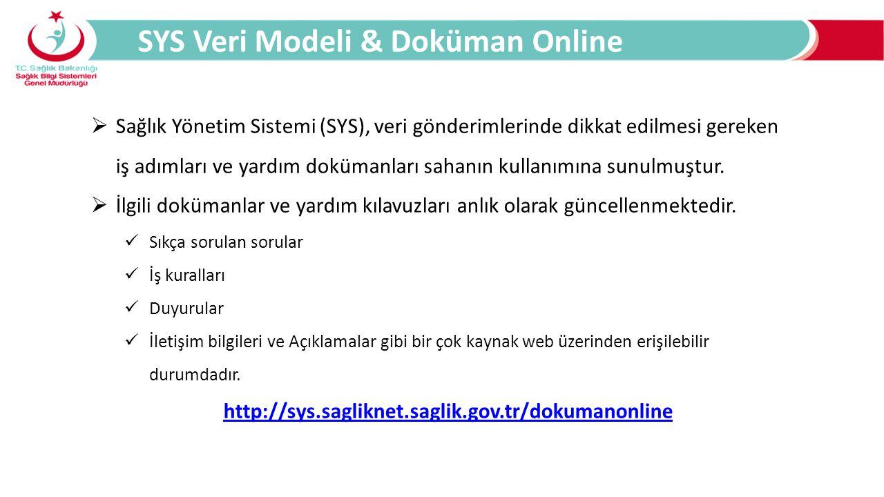 SYS Veri Modeli & Doküman Online