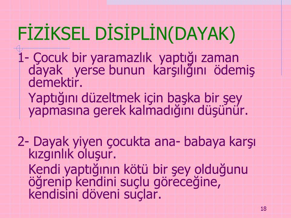 FİZİKSEL DİSİPLİN(DAYAK)
