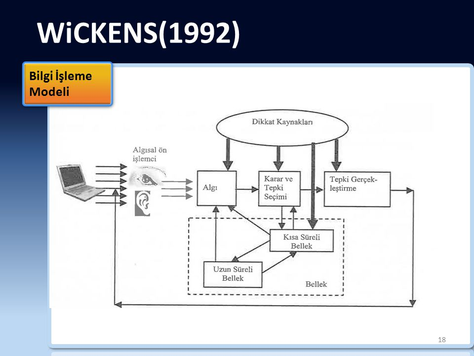 WiCKENS(1992) Bilgi İşleme Modeli b