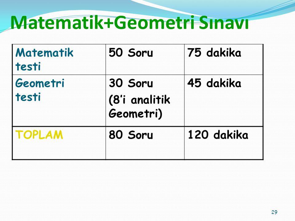 Matematik+Geometri Sınavı